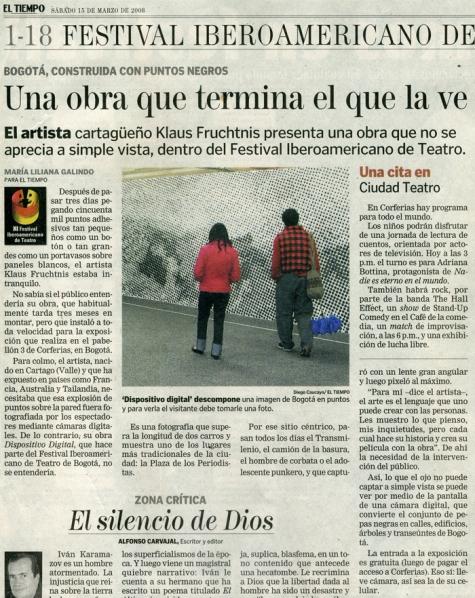 El Tiempo Newspaper, 2008, Colombia