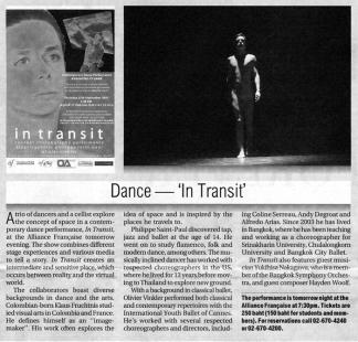 Bangkok Post / Outlook, September 26th 2007, Thailand