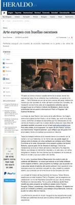 Heraldo Newspaper, October 29th 2014, Spain